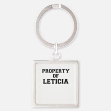 Property of LETICIA Keychains