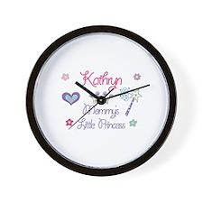 Kathryn - Mommy's Little Prin Wall Clock