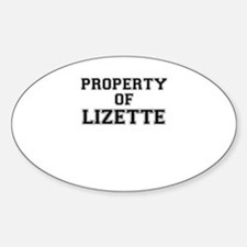Property of LIZETTE Decal