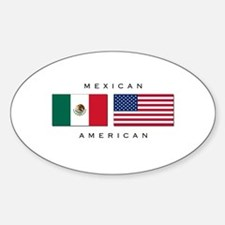 Mexican American Oval Decal