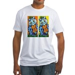 VINTAGE CAT ART Fitted T-Shirt