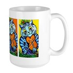 VINTAGE CAT ART Large Mug