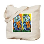 VINTAGE CAT ART Tote Bag