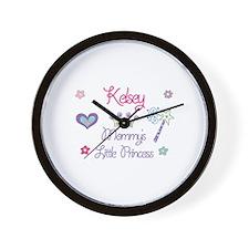 Kelsey - Mommy's Little Princ Wall Clock
