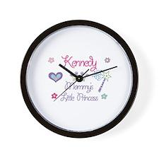 Kennedy - Mommy's Little Prin Wall Clock