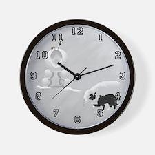 Snow Sheep Wall Clock