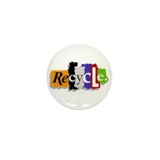 Recycle Mini Button (10 pack)