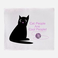 Cat People Are Cool People! Throw Blanket