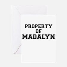 Property of MADALYN Greeting Cards
