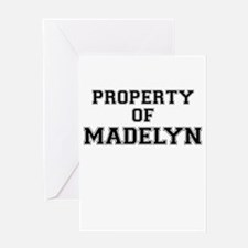 Property of MADELYN Greeting Cards