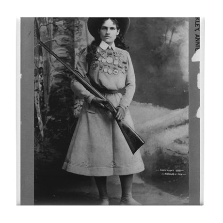 Annie Oakley Tile Coaster By Americanaphoto