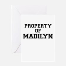 Property of MADILYN Greeting Cards