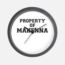Property of MAKENNA Wall Clock