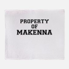 Property of MAKENNA Throw Blanket
