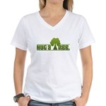 Hug a Tree Women's V-Neck T-Shirt