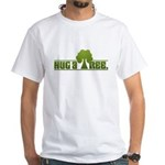 Hug a Tree White T-Shirt