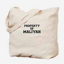 Property of MALIYAH Tote Bag