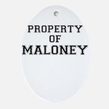 Property of MALONEY Oval Ornament