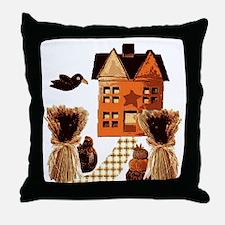 Autumn farmhouse Folk Art  Throw Pillow