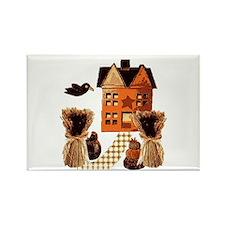 Autumn farmhouse Folk Art Rectangle Magnet