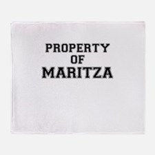 Property of MARITZA Throw Blanket