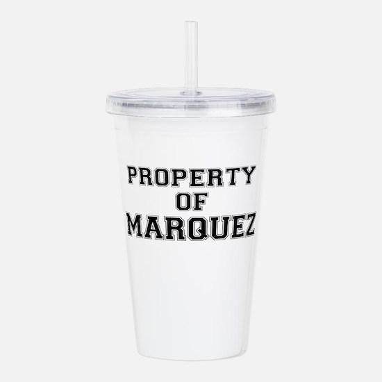 Property of MARQUEZ Acrylic Double-wall Tumbler