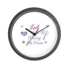 Leah - Mommy's Little Princes Wall Clock