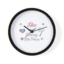 Lillian - Mommy's Little Prin Wall Clock
