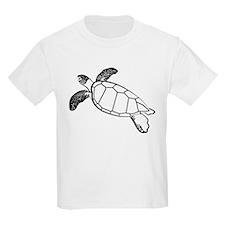 Sea Turtle Lineart T-Shirt