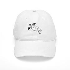 Sea Turtle Lineart Baseball Cap