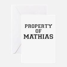 Property of MATHIAS Greeting Cards