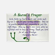 A NURSES PRAYER LAVENDER NAVY Magnets