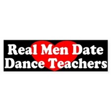 Date Dance Teachers Bumper Bumper Sticker