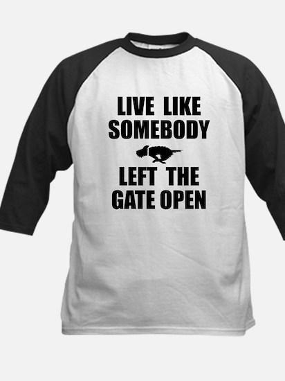 Live like somebody left the g Kids Baseball Jersey