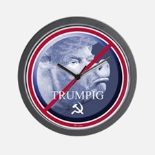 Trumpig (Trump pig) Wall Clock