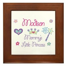 Madison - Mommy's Little Prin Framed Tile