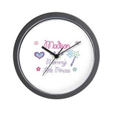 Madison - Mommy's Little Prin Wall Clock