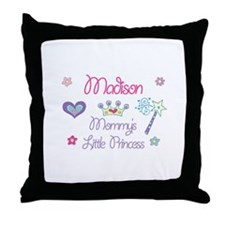 Madison - Mommy's Little Prin Throw Pillow