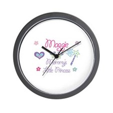 Maggie - Mommy's Little Princ Wall Clock
