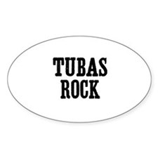 Tubas rock Oval Decal
