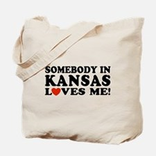 Somebody in Kansas Loves Me Tote Bag