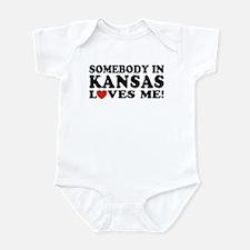 Somebody in Kansas Loves Me Infant Bodysuit