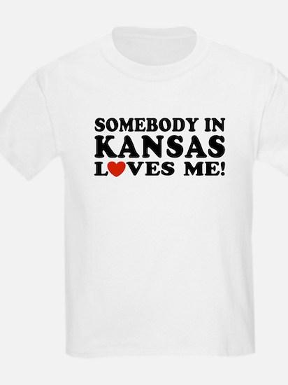 Somebody in Kansas Loves Me T-Shirt