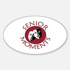 Cute Senior Sticker (Oval)