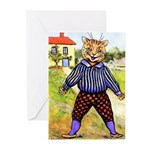 VINTAGE CAT ART Greeting Cards (Pk of 20)