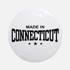 Made in Connecticut Ornament (Round)