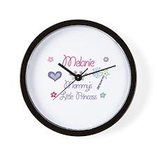 Melanie - Mommy's Little Prin Wall Clock