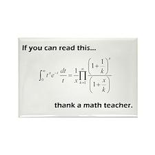 Thank A Math Teacher Rectangle Magnet (10 pack)