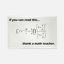 Thank A Math Teacher Rectangle Magnet