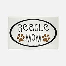 Beagle Mom Oval Rectangle Magnet (10 pack)